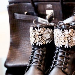 QUEENIES Exclusive Production Casual Bling Gem Boots