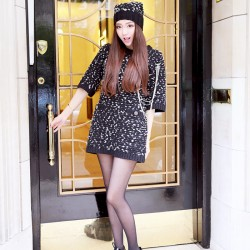 QUEENIES Exclusive Production Thick Woven Knitted Dress