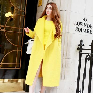 QUEENIES Exclusive Production Linen&Wool Coat