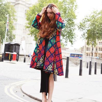 QUEENIES Exclusive Production Super Stylish Rainbow Colour Coat