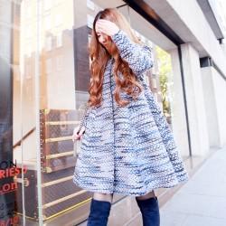 QUEENIES Exclusive Production Top Tweed Woven Coat