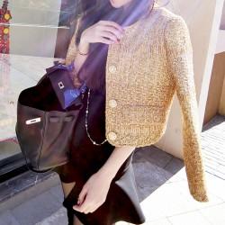 QUEENIES Exclusive production Golden Long sleeve coat