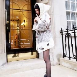 QUEENIES  Exclusive production - Superb Cute Wool Hoodie Cardigan