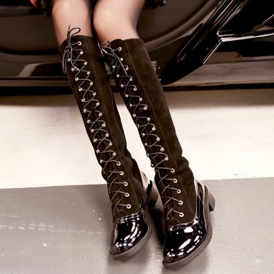 QUEENIES Exclusive Production Strap Suede Boots