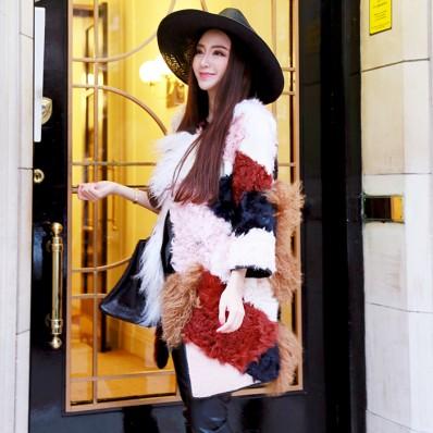 QUEENIES Exclusive Production Limited Edition Colour Fur Coat